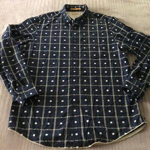 Tommy Bahama Plaid Long Sleeve Cotton Shirt M